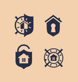 modern professional sign logo safe house vector image vector image