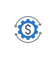 money making related glyph icon vector image vector image