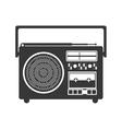 monochrome silhouette sound recorder portable vector image vector image