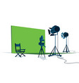 movie set studio vector image vector image