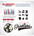 oil industry infographic filling station gasoline vector image vector image
