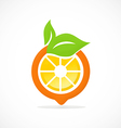orange fruit nutrition abstract logo vector image vector image