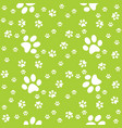 paws green pattern paw background vector image