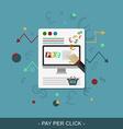 Pay per click web design vector image vector image