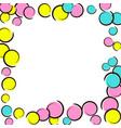 pop art border with comic polka dot confetti vector image vector image