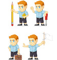 Red Head Boy Customizable Mascot 8 vector image vector image