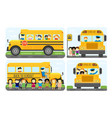 school bus kids transport vector image vector image