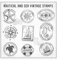sea journey vintage stamps 2 vector image vector image