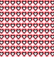 Seamless Heart Background Pattern Love vector image vector image