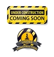 set 3d shiny under construction and vector image
