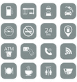 Set of gas station icons Fuel glyph icons vector image vector image