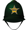 Sheriff hat vector image vector image