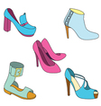 shoes paint vector image vector image