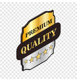 square label premium quality isometric icon vector image vector image