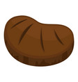 steak icon flat style vector image vector image