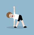 stretching and warm-up exercise vector image vector image