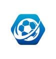 swoosh soccer logo icon vector image