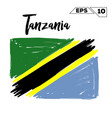 tanzania flag brush strokes painted vector image vector image