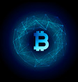 techno style bitcoin currency background vector image vector image