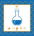 test-tube with bubbles symbol icon vector image vector image