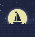 the sailboat silhouette vector image vector image