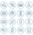Thin line medical icons set vector image vector image