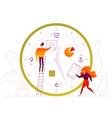 time management - flat design style colorful vector image