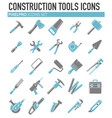 tools icons blue grey set on white background for vector image