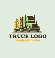 truck logo transportation wood vector image