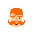 vintage irishman with red mustache happy emoji vector image