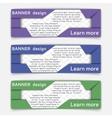 Web banner design vector image vector image