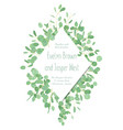 wedding invitation greeting card banner vector image vector image