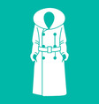 Women coat icon on background vector image vector image