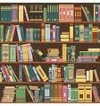 bookshelf books library vector image