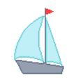 yacht isolated on white background vector image
