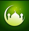green eid mubarak graphic card vector image