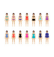collection of female swimsuit vector image