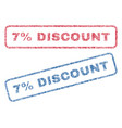 7 percent discount textile stamps vector image vector image