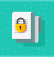 access closed or locked for document file vector image