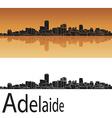 Adelaide skyline in orange background vector image vector image