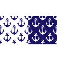 anchor seamless pattern marine navy blue vector image