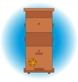 bee beehive outline vector image vector image