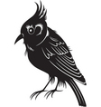 black bird vector image vector image