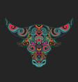bull head ornamental vector image
