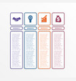 Business infographics template with 4 options