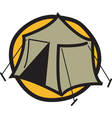 Camping tent logo vector image vector image
