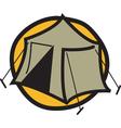 Camping tent logo vector image vector image