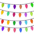cartoon bright garland illumination effect vector image