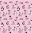 cartoon raccoon seamless vector image vector image