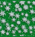 christmas seamless pattern paper snowflakes vector image vector image